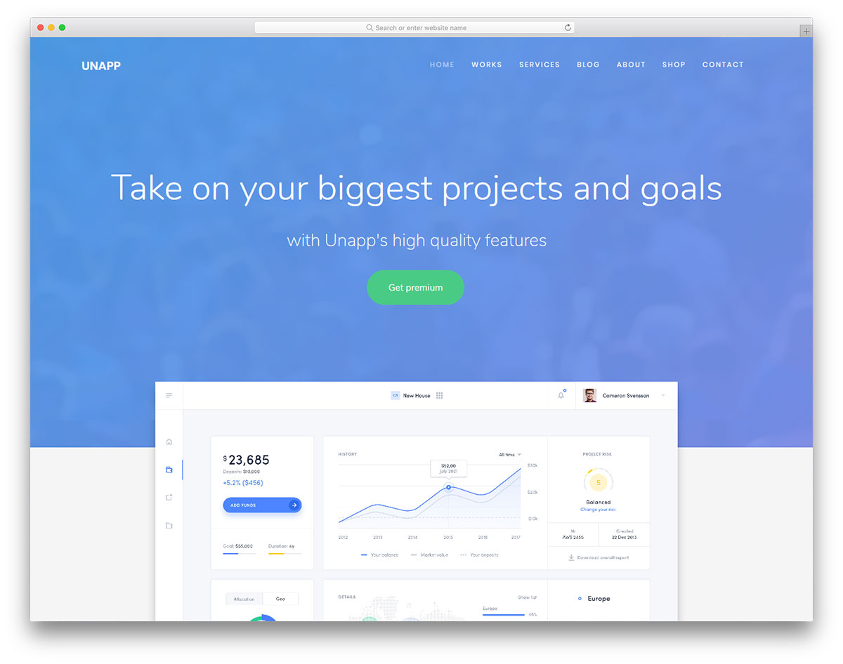 Featured website templates